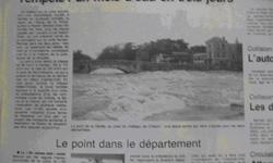 Photographies de crue à Clisson