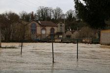 Photographies de crue à Saint-Laurent-sur-Sèvre