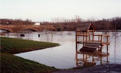 crue à La Haie-Fouassière